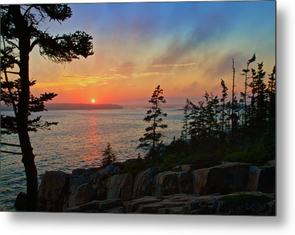 Sunset Over Frenchman's Bay Metal Print