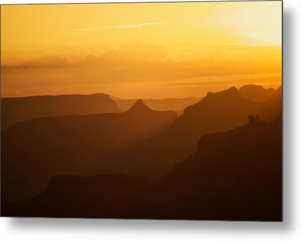 Sunset Over Grand Canyon Metal Print by C Thomas Willard