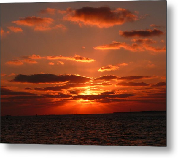 Sunset Over Key West Metal Print