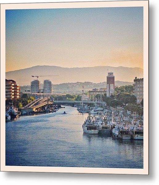 Sunset Over Pescara Metal Print