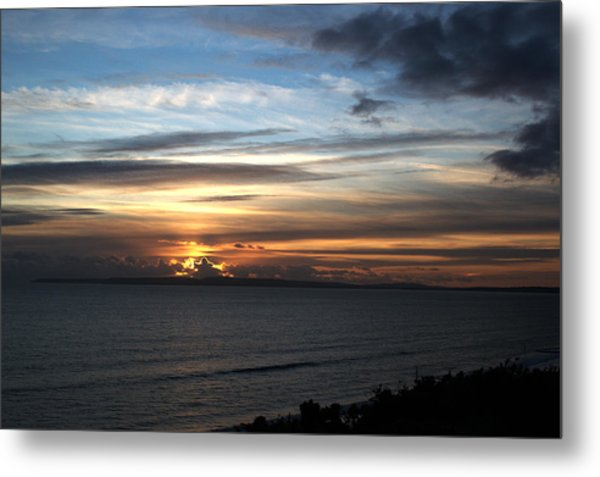 Sunset Over Poole Bay Metal Print