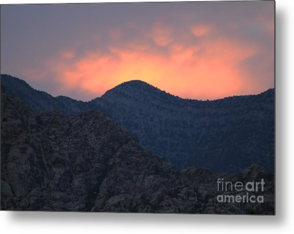 Sunset Over Red Rock Metal Print