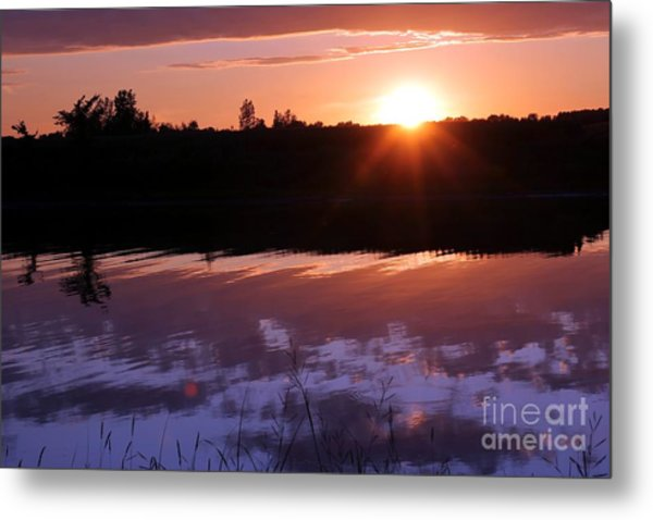 Sunset Over The Island Metal Print by Sophie Vigneault