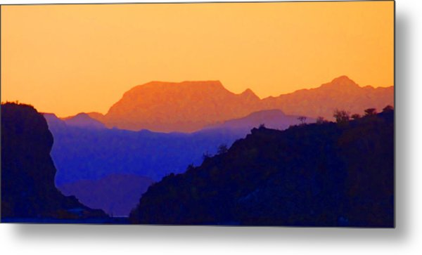 Sunset Over The Sierra Gigantes Metal Print