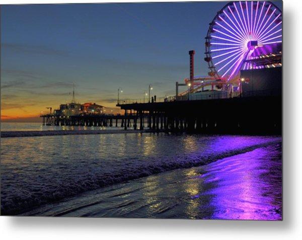 Sunset Purple Metal Print