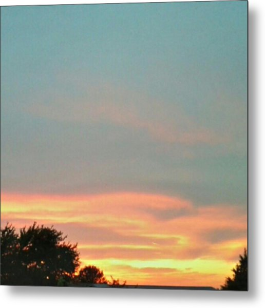 #sunset Redux #instadroid #andrography Metal Print by Kel Hill