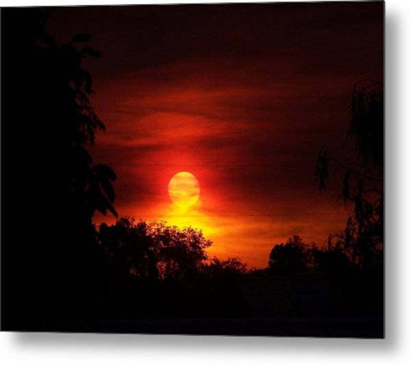 Sunset Metal Print by Richard Adams