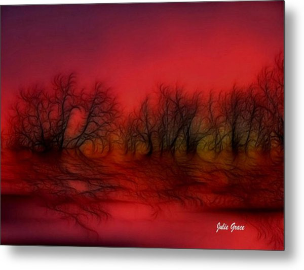 Sunset Trees Metal Print