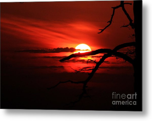 Sunset Zen Metal Print