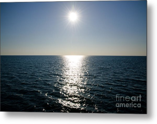 Sunshine Over The Mediterranean Sea Metal Print