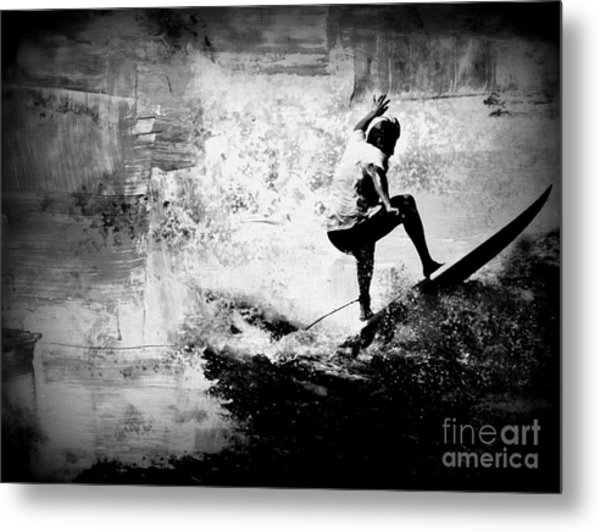 Surf In Action Metal Print by Kevin Moore