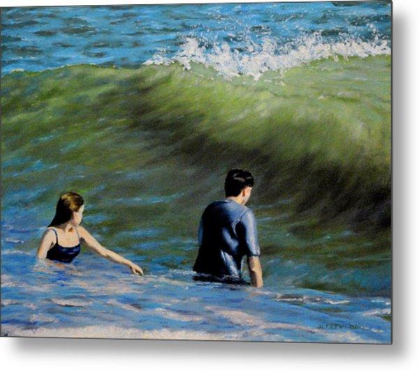 Surf Play Metal Print