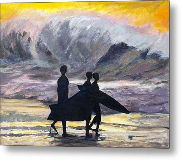 Surf Riders Metal Print