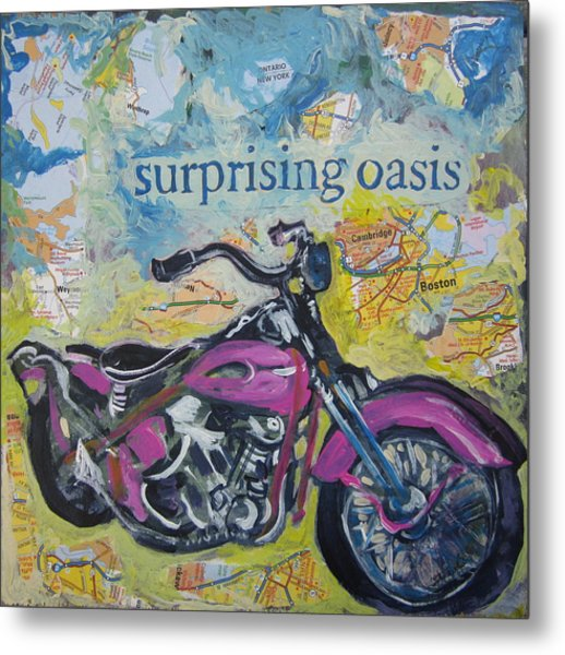 Surprising Oasis Metal Print