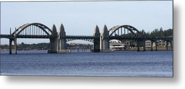 Suslaw Bridge Panorama Metal Print by Mary Gaines