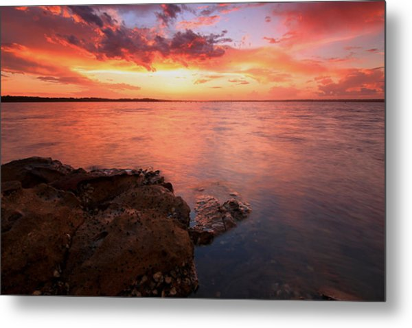 Swan Bay Sunset 2 Metal Print