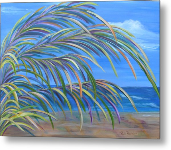 Metal Print featuring the painting Swaying In The Breeze by Paula Robertson