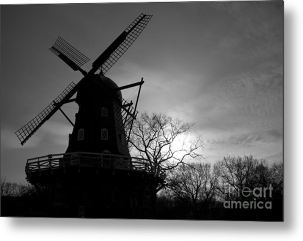 Swedish Windmill Metal Print by Mike  Connolly