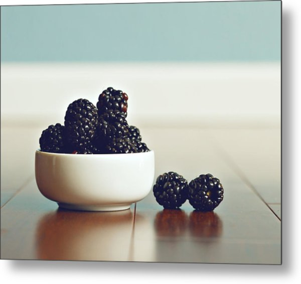 Sweet Blackberries Metal Print by Amelia Matarazzo
