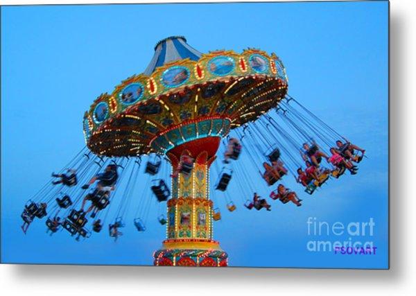 Swing Ride At The Fair Metal Print