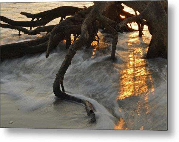 Swirling Sunrise On Jekyll Island Metal Print
