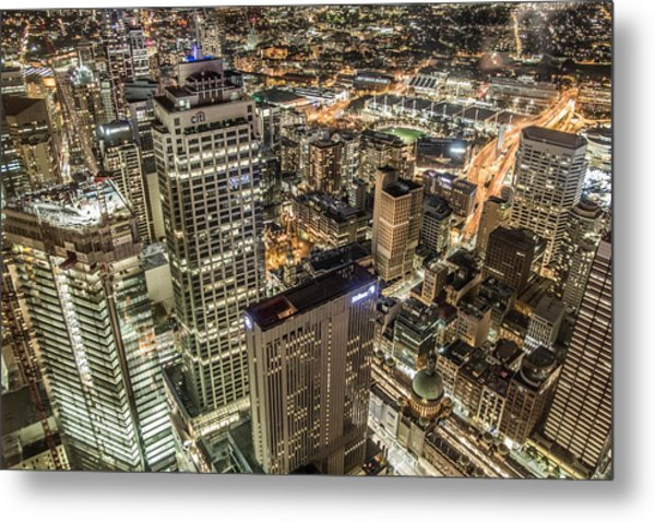 Sydney At Night Metal Print by Andy Nguy