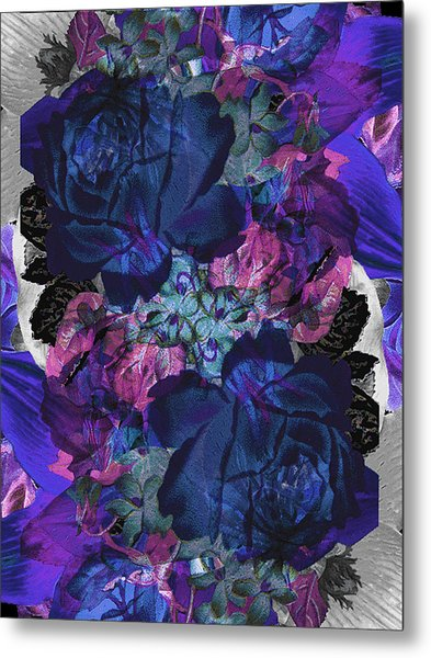 Symetry Rose Garden Metal Print by Carly Ralph