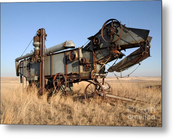 T-rex Of The Farm Metal Print