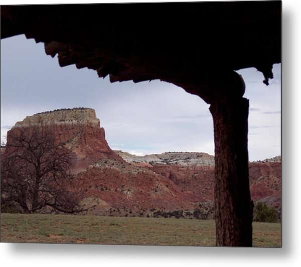 Table Mesa At Ghost Ranch Metal Print
