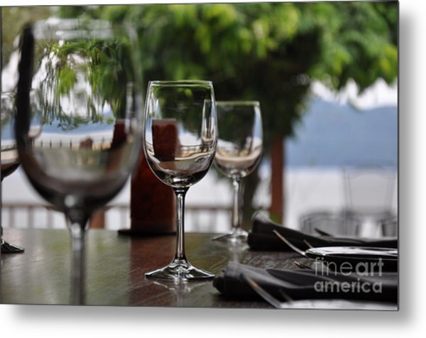 Table With A View Metal Print by Tanya  Searcy