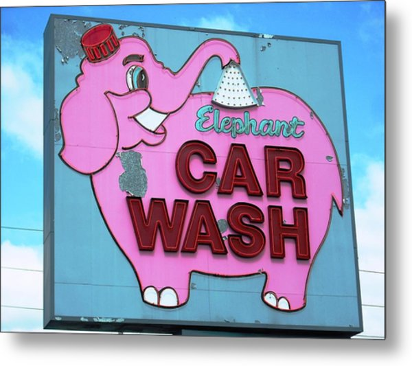Tacoma Elephant Car Wash  Metal Print