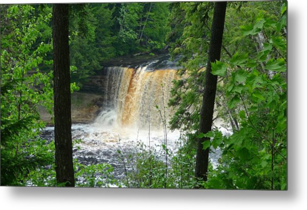 Tahquamenon Falls Of Michigan Metal Print by Michael Carrothers