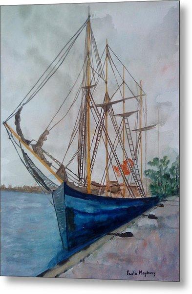 Tall Pirate Ship Metal Print