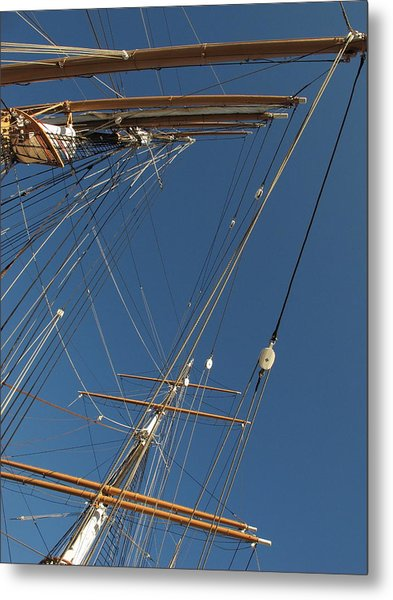 Tall Ship Rigging 1 Metal Print by Winston  Wetteland