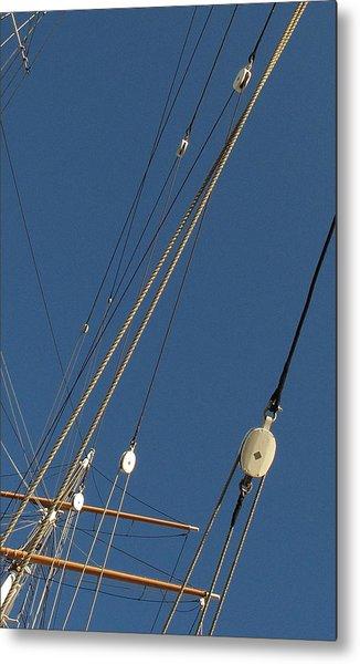 Tall Ship Rigging 3 Metal Print by Winston  Wetteland