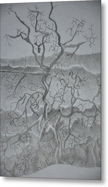 Tangled Tree Of A Lonely Mind Metal Print