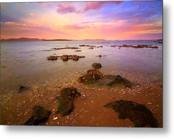 Tanilba Bay Sunset Metal Print