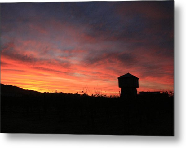 Tankhouse Sunrise In Healdsburg Metal Print