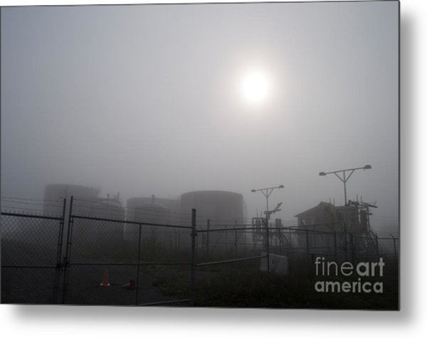 Tanks At Petrocor In The Fog Metal Print by Gary Chapple