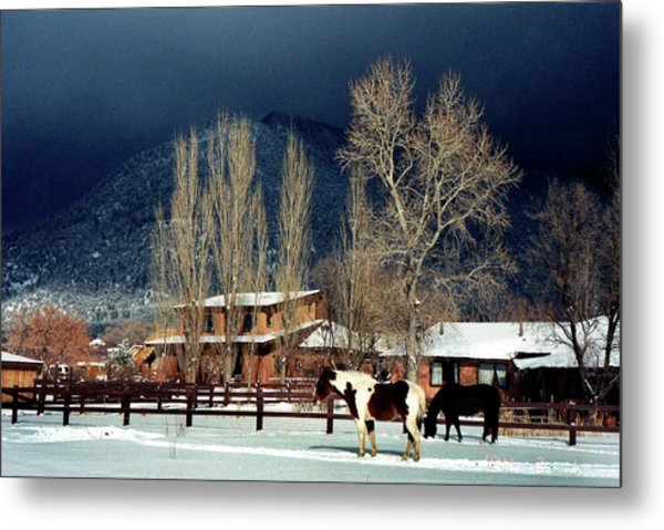 Taos Typical Metal Print by Ed Golden