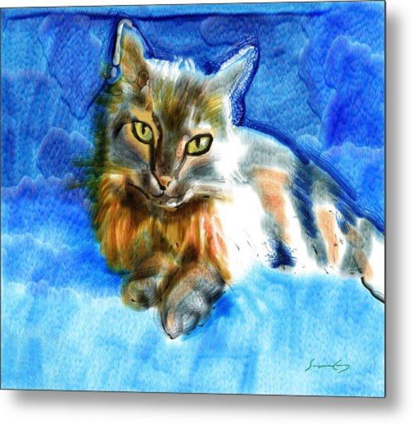 Tara The Cat Metal Print
