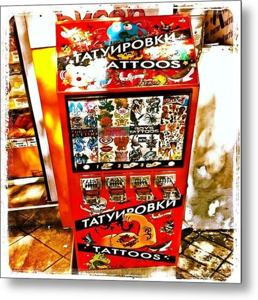 Tattoo Vending Machine. #varna #tattoo Metal Print by Richard Randall