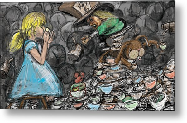 Tea Party Metal Print by Eric Atkisson