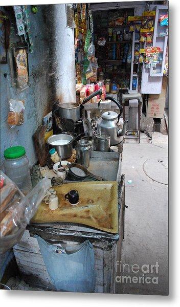 Tea Stall Metal Print