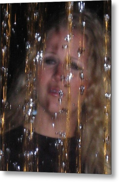 Tears Of Silver Gold And Diamonds Metal Print