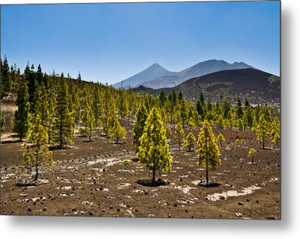 Technicolor Teide Metal Print