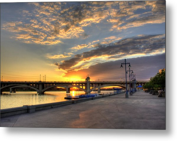 Tempe Town Lake Sunrise Metal Print