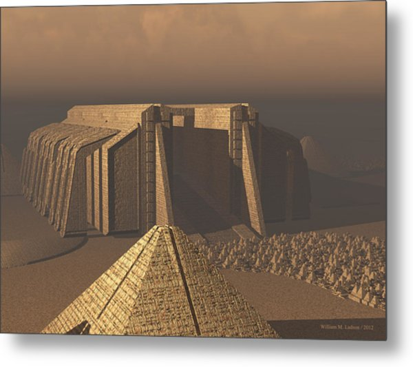 Temple Of Neoegypt Metal Print