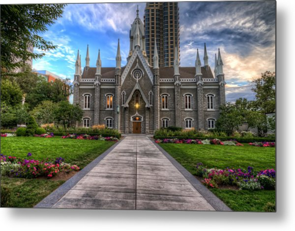 Temple Square Assembly Hall Metal Print