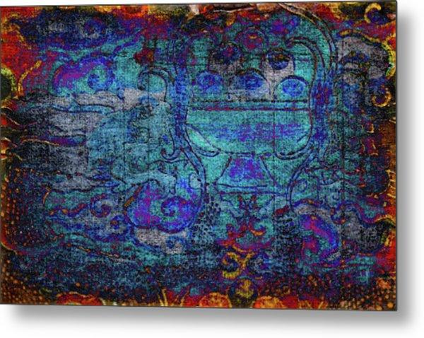 Temple Tapestry Metal Print